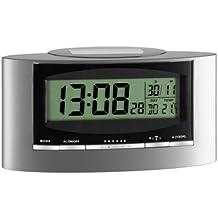 TFA Solar de radio despertador (Incluye batería) gris de Negro 981071