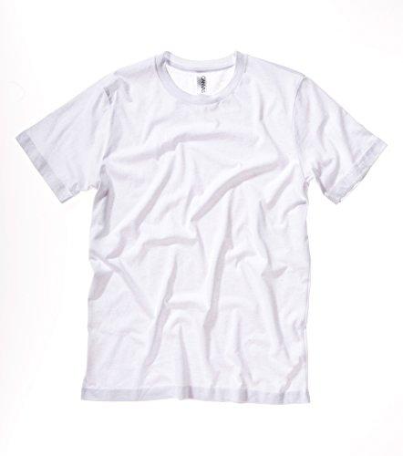 Bella+Canvas: Unisex Jersey Crewneck T-shirt 3001, Größe:L;Farbe:White (Jersey-t-shirt Belle)