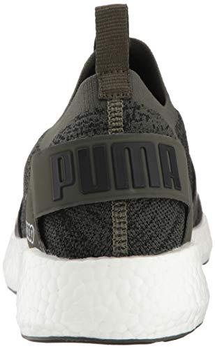PUMA Men s Nrgy Neko Engineer Knit Sneaker  Forest Night Black  14 M US