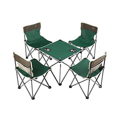 mimagogy Aotu Compact tragbare Falten Camp Stühle Tisch Set (4 Stühle + 1 Tabelle) -