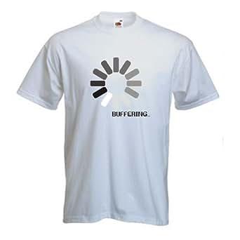 Men's Buffering T-Shirt (S, White)