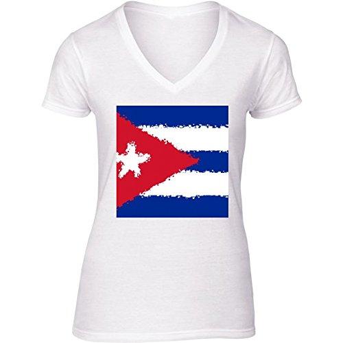 camiseta-blanca-con-v-cuello-para-mujer-tamao-s-cuba-by-cadellin
