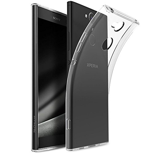 TECHGEAR Xperia XA2 Ultra Hülle - [Airflex] Slim & Light-Hülle, Schutz, Flexible Gel/TPU-Abdeckung Ultradünn, Ultraklar Case mit Soft-Touch-Tasten kompatibel mit Sony Xperia XA2 Ultra (Transparent) Ultra Light Case