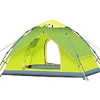 JIAN Tienda De Campaña A Prueba De Agua A Prueba De Viento Protección UV Camping Familiar Plegable Portátil Equipo Al Aire Libre,Green