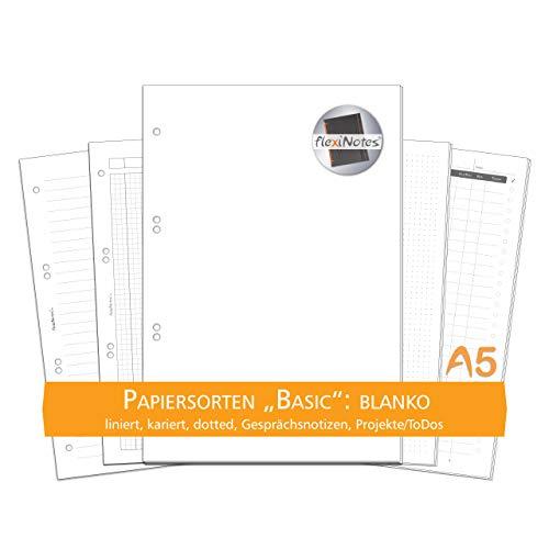 Schaar-Design flexiNotes PAPIER A5 zum Nachfüllen, 75 Blatt Notizpapier, Einlagen für Notizbücher, Organizer, Terminplaner, Ringbücher, Kalender, Timer, Jahresplaner, Typ: A5, blanko