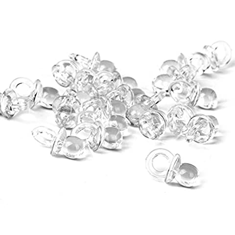 Fpilepsy 50pcs /pack Baby Shower Party Favors Decorations Mini Pacifiers(Clear)