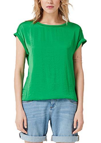 s.Oliver RED LABEL Damen T-Shirt mit Satin-Front Apple 40 Apple-satin