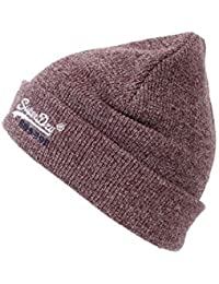 Superdry Beanie BASIC EMBROIDERY BEANIE State Red Twist