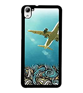 PrintDhaba Aeroplane D-4222 Back Case Cover for HTC DESIRE 826 (Multi-Coloured)