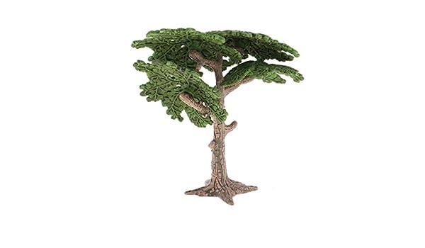 10cm Mini paysage arbre modèle paysage maison salon vert décor de paysage
