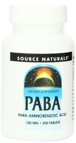 SOURCE NATURALS, PABA 100 mg - 250 tabs