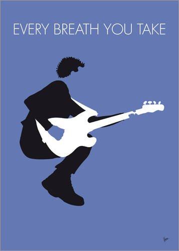 Póster 50 x 70 cm: No058 MY The Police Minimal Music Poster de chungkong - impresión artística, Nuevo póster artístico