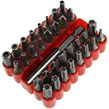 ycnk 33pcs Tamper Proof Seguridad con portapuntas magnético extensión soporte de broca HUECA de incluye puntas, Torx y llave