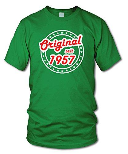 shirtloge - ORIGINAL SEIT 1957 - KULT - Geburtstags T-Shirt - in verschiedenen Farben & Größen Grün