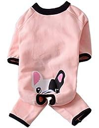 8dc30f927d7bb BT Ours pour Animal Domestique sauteurs Bouledogue français Jumpsuit Animal  Pyjama Doux et Chaud en Polaire pour Chien Pull…