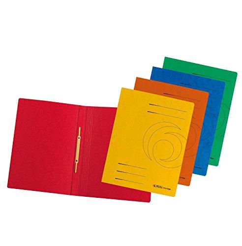 Herlitz A4 Schnellhefter A4 Colorspan farbig sortiert, 20 Stück