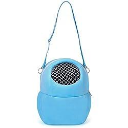TREESTAR Mochila de malla abierta para mascotas, para llevar al aire libre o al aire libre, 1 unidad, azul, S(17x14cm)