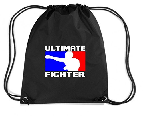 T-Shirtshock, Rucksack Budget Gymsack Ultimate Fighter T-Shirt MMA, Boxing, Muay Thai, UFC