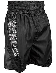 Venum Elite Pantalones Cortos de Boxeo, Unisex Adulto, Negro, L