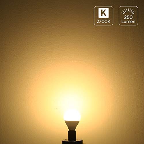 LE E14 LED Birne, 3W 250 Lumen LED Lampe, entspricht 25W Glühlampe, 2700 Kelvin Warmweiß , 5er Pack