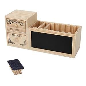 pot crayons bo te stylos echelles tiroirs en bois rangement bureau fournitures de. Black Bedroom Furniture Sets. Home Design Ideas