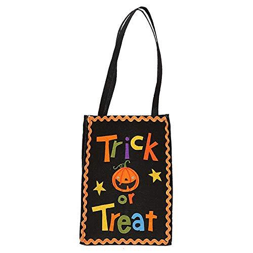 KDGB DIY Halloween Eimer Korb Süßigkeiten Kürbis Tasche Tote Halloween Dekoration Ornament Requisiten Party Festival Kinder Geschenk Taschen (3)
