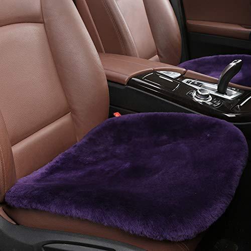 Auto Sitzkissen Winter reines Kaschmir Einzelstück Büro Einzelsitzkissen Hause Universal kleine quadratische Auflage 0,9 g lila