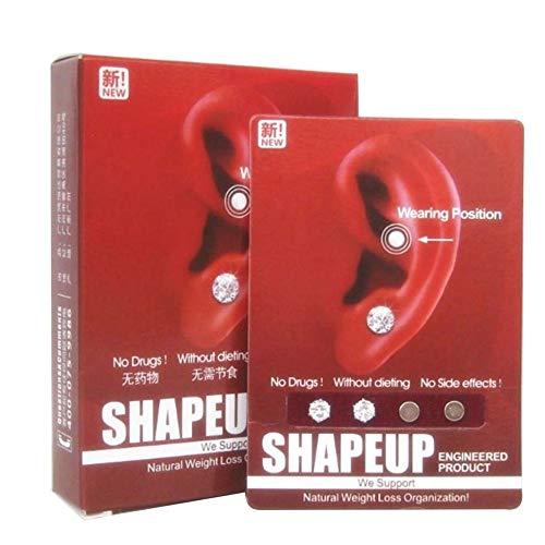 James Frauen Männer Abnehmen Ohrring Magnet Ohrstecker Ohrring Akupunktur Massage weiß