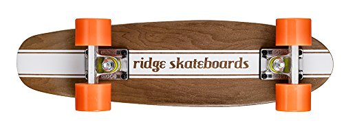 Ridge  Maple Holz Mini Cruiser Number Four Skateboard, Orange, MPB-22-NR4
