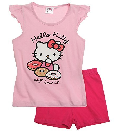 Kinder Kitty Schlafanzug Hello (Hello Kitty Mädchen Shorty-Pyjama - pink - 140)
