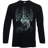 t-shirt manica lunga nera - tribut Alien - inside rx - S M L XL XXL uomo donna bambino maglietta by tshirteria