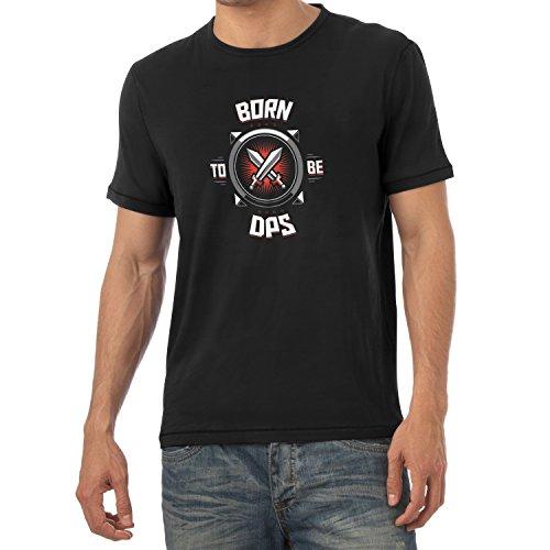 TEXLAB - Born to be DPS - Herren T-Shirt, Größe XXL, (Blizzard Kostüm Mann)