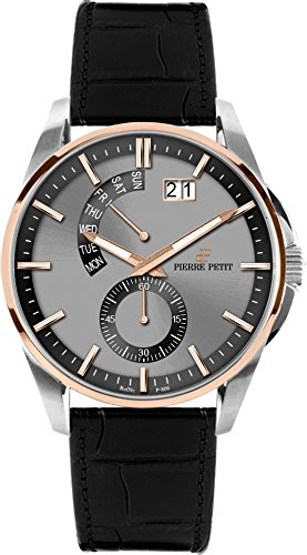 Petit Pierre Men's Watch XL Analogue Quartz Le Mans P-793B Leather