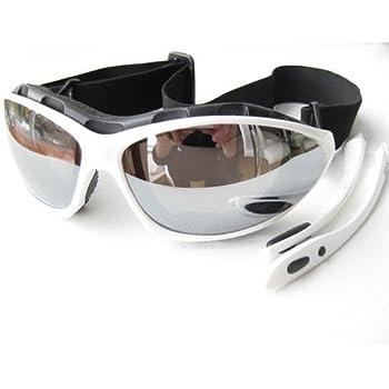 467c91f0a82 RAVS Sports Glasses - Lenses Silver Mirrored - Ski Goggles - Kite Surfing - Cycling  Sunglasses