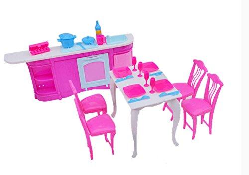 Günstige Puppenhaus Möbel Set-Küche Zimmer Sets