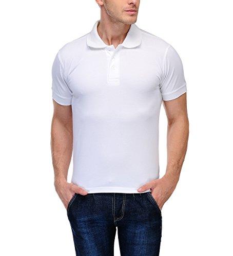 Scott Men's Premium Organic Cotton Polo T-Shirt - White - AW18-SP16-XXXL