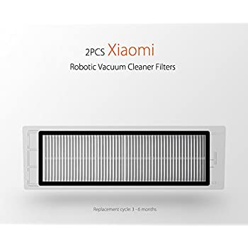 Xiaomi Robot Aspirateur Remplacement, Pièces de rechange, Brosse, Filtre, Accessoires pour Xiaomi Mi Robot Aspirateurs (2PCS Filtre HEPA)