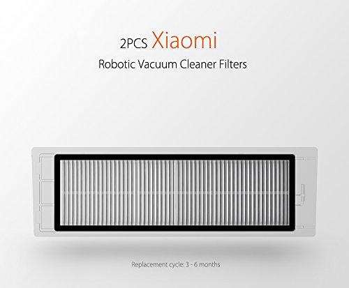 Staubbehälter HEPA Filter für XIAOMI MI Roboter Staubsauger Ersatzteil (2PCS Heap Filter)