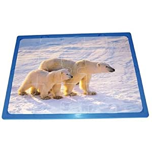 Learn and Play Aprende y Juega 27,5 x 19 cm suaves Animales Puzzle (juego de piezas 3/15)