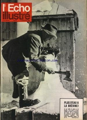 ECHO ILLUSTRE SUISSE (L') [No 50] du 15/12/1962