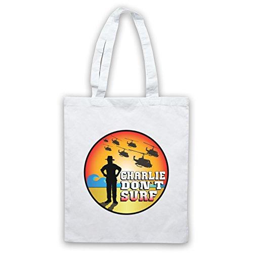 Inspiriert durch Apocalypse Now Charlie Don't Surf Inoffiziell Umhangetaschen Weis