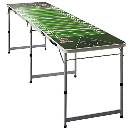 Evil-Jareds-PREMIUM-Beer-Pong-Table-Inkl-6-Beer-Pong-Blle-mit-Schaumhalter-College-Qualitt-mit-offiziellen-Maen-College-Beer-Pong-Tisch-American-Football-Field