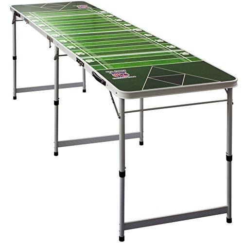 *Evil Jared's PREMIUM Beer Pong Table Inkl. 6 Beer Pong Bälle mit Schaumhalter | College Qualität mit offiziellen Maßen – College Beer Pong Tisch | American Football Field*