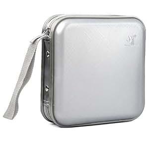 DIGIFLEX stockage Étui de rangement rigide protecteur avec pochettes pour 40 CD, DVD, CD-ROM argenté