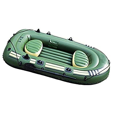 Inflatable Kayak ,4 person Canoe Kayak ,Fishing Kayak,rubber boat ,Folding Kayak ,Padded Seat & Paddle-- Different Sets To Choose From(Full set equipped) , 265 * 130 * 46cm400 military ship (luxury accessories) by YMMONLIA