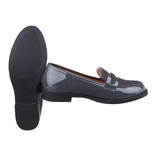Ital-Design , chaussons dintérieur femme Gris