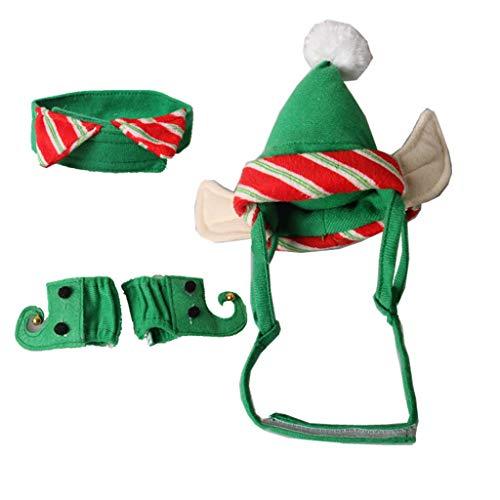 Kostüm Stirnband Hunde Mit - Lwl220 Hunde-Kostüm mit Kapuze, Mantel für Hunde, Rentier-Geweih, Stirnband