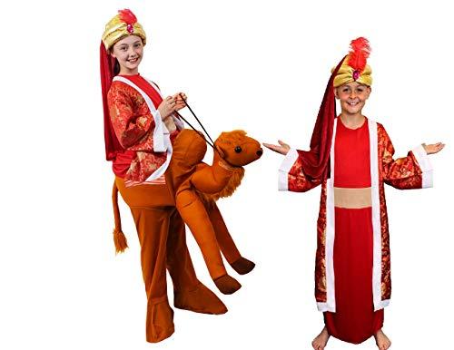 ILOVEFANCYDRESS KRIPPENSPIELE Kamel+HEILIGE 3 KÖNIGE=Balthasar-Melchior+CASPAR= KOSTÜME VERKLEIDUNG=Kamel REITE Mich ODER MIT Oberteil =Kamel+Balthazar/XLarge (Balthazar Kind Kostüm)