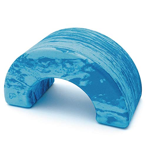 Sissel 310101, Pilates Roller Unisex - Adulto, Blu Marmorizzato, 25.5 x 14 x 12 cm