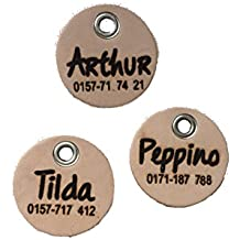 individuelle Hunde Ledermarke Anhänger mit Name und Telefonnummer